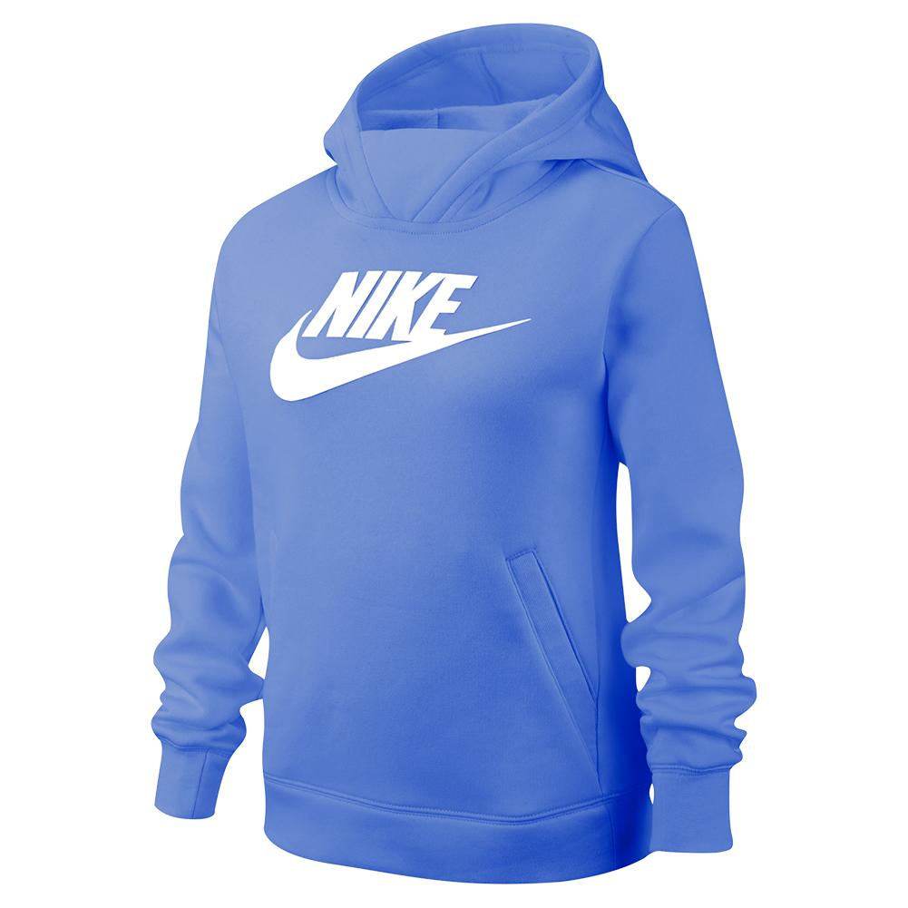 Girls'sportswear Pullover Hoodie Royal Pulse And White