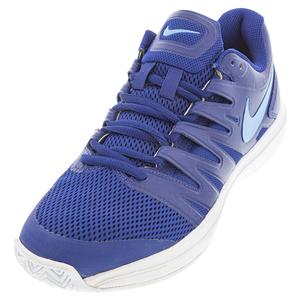 Men`s Air Zoom Prestige Tennis Shoes Deep Royal Blue and Coast