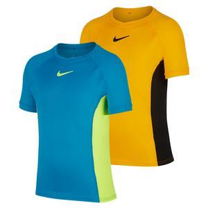 Boys` Court Dry Short Sleeve Tennis Top
