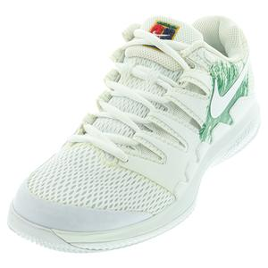 Women`s Air Zoom Vapor X Tennis Shoes White and Clover
