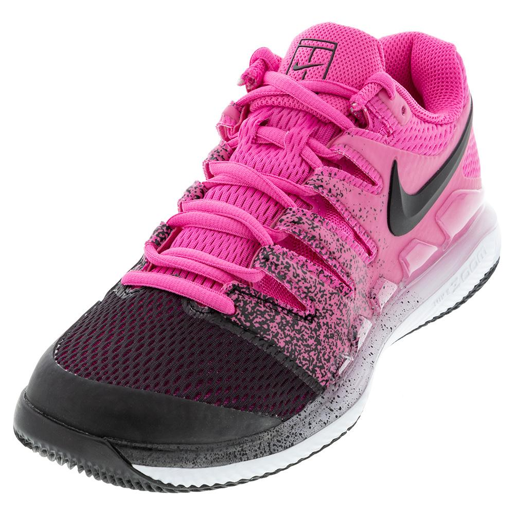 Women's Air Zoom Vapor X Tennis Shoes Laser Fuchsia And Black