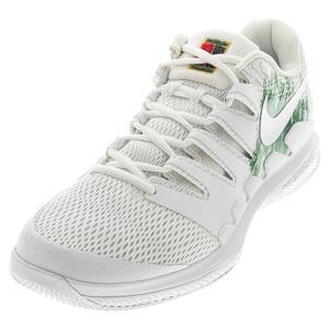 Men`s Air Zoom Vapor X HC Tennis Shoes White and Clover