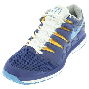 Men`s Air Zoom Vapor X Tennis Shoes Deep Royal Blue and Coast