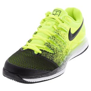 Men`s Air Zoom Vapor X HC Tennis Shoes Volt and Black
