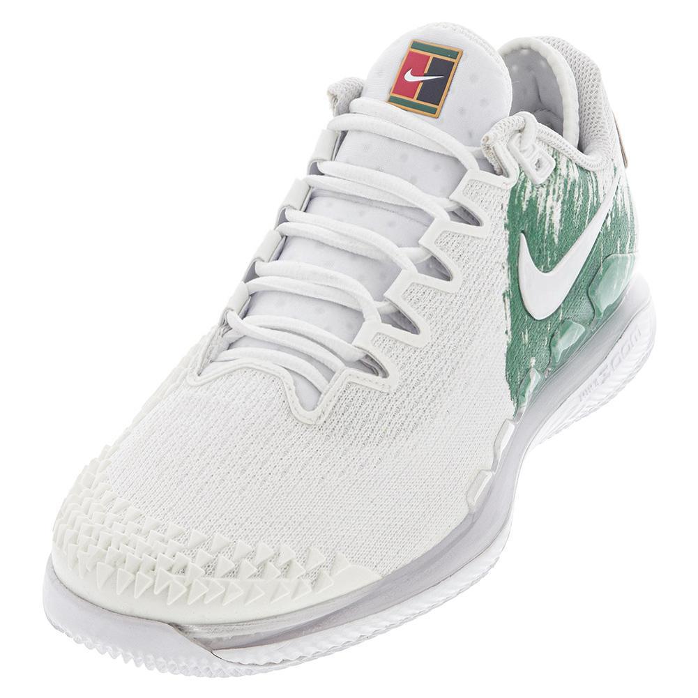 Men's Air Zoom Vapor X Knit Tennis Shoes White And Clover