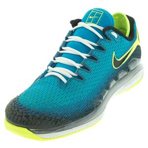 Men`s Air Zoom Vapor X Knit Tennis Shoes Neo Turq and Black