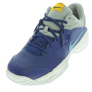 Men`s Court Lite 2 Tennis Shoes Deep Royal Blue and Coast