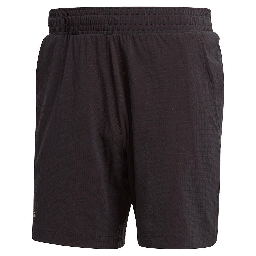 Men's Ergo 7 Inch Tennis Short Black And Grey Three