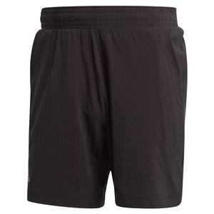 Men`s Ergo 7 Inch Tennis Short Black and Grey Three