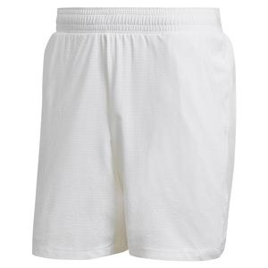 Men`s Ergo 7 Inch Tennis Short White and Grey Four