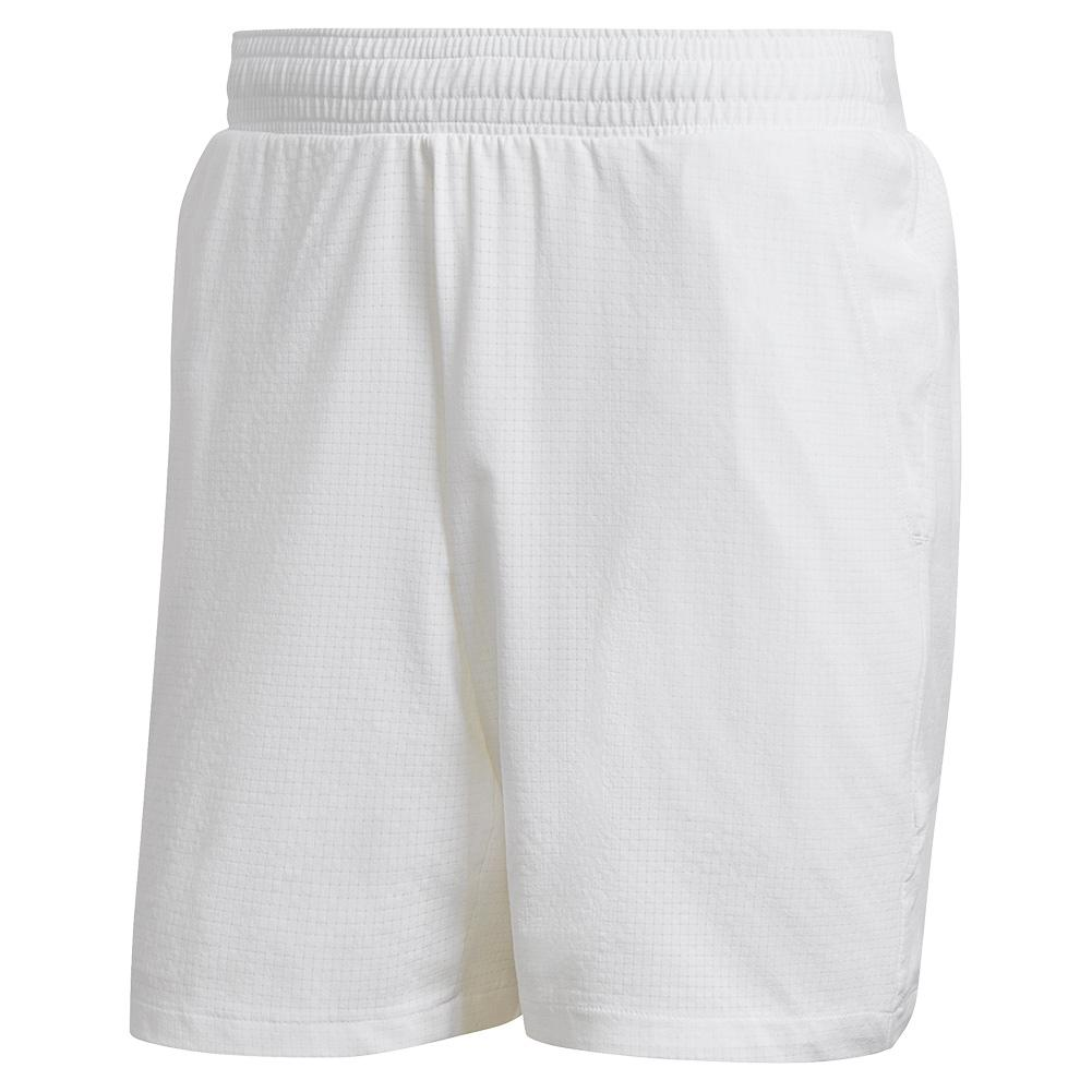 Men's Ergo 9 Inch Tennis Short White And Grey Four