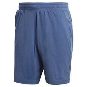 Men`s Ergo Melange 9 Inch Tennis Short Tech Indigo and Sky Tint