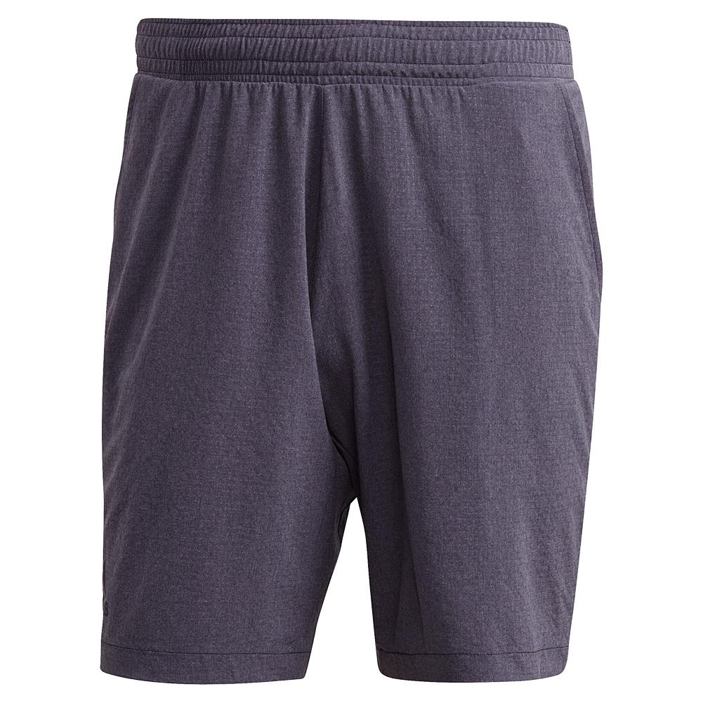 Men's Ergo Melange 7 Inch Tennis Short Black And Grey Three