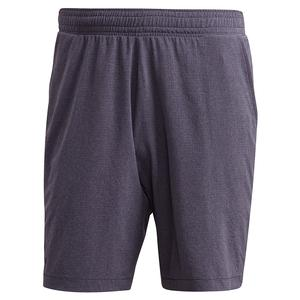 Men`s Ergo Melange 7 Inch Tennis Short Black and Grey Three