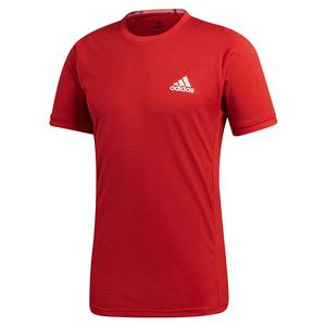 Men`s Freelift Tennis Top Scarlet and White