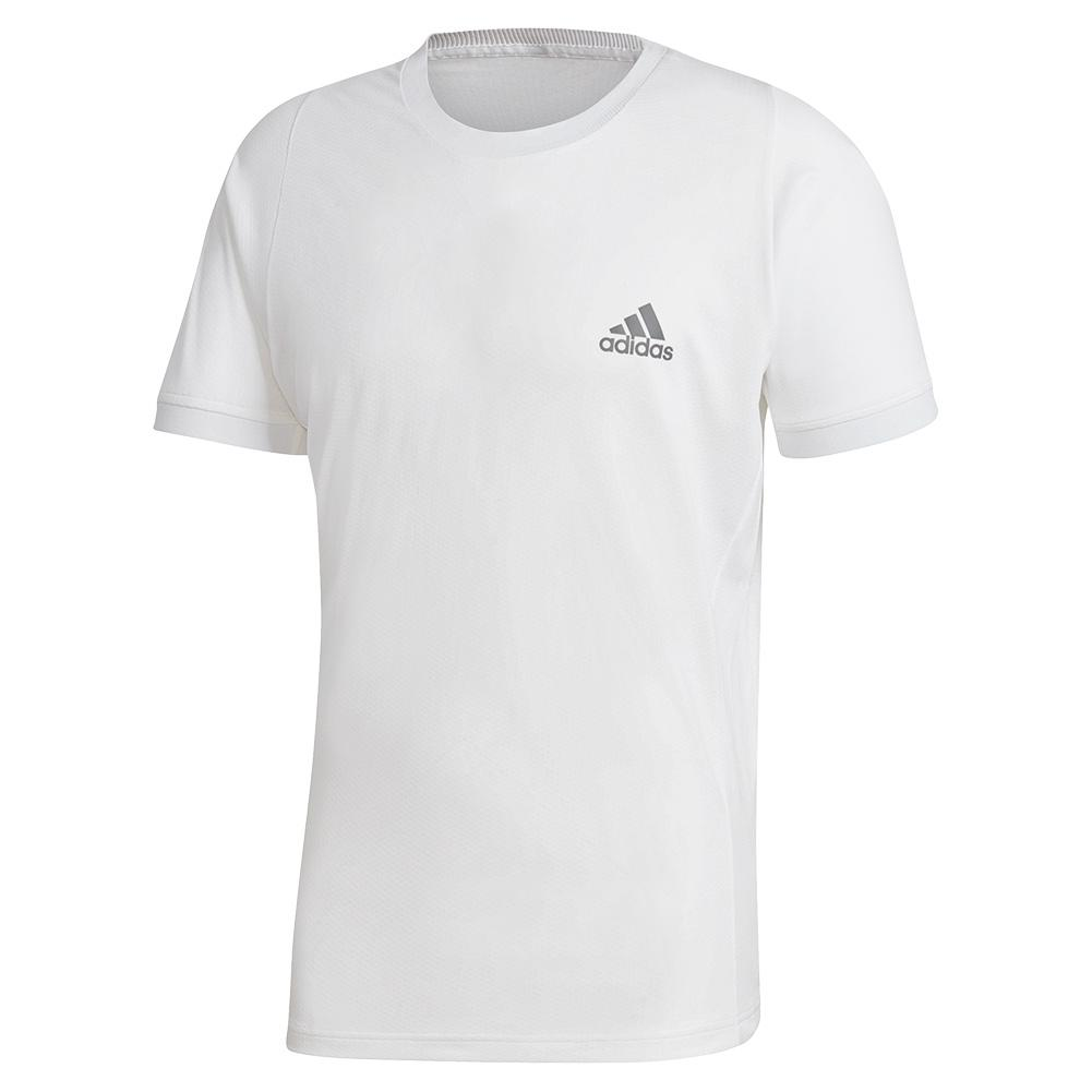 Men's Freelift Tennis Top White And Grey Four