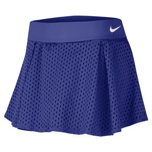 Women`s Court Dry Essentials Flouncy Tennis Skort Rush Violet and White