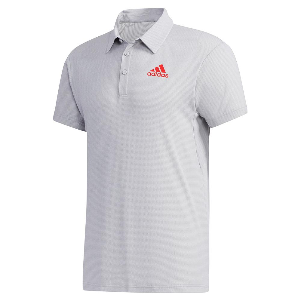Men's Heat.Rdy Tennis Polo Light Grey Heather