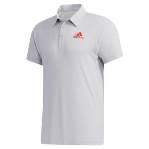 Men`s HEAT.RDY Tennis Polo Light Grey Heather