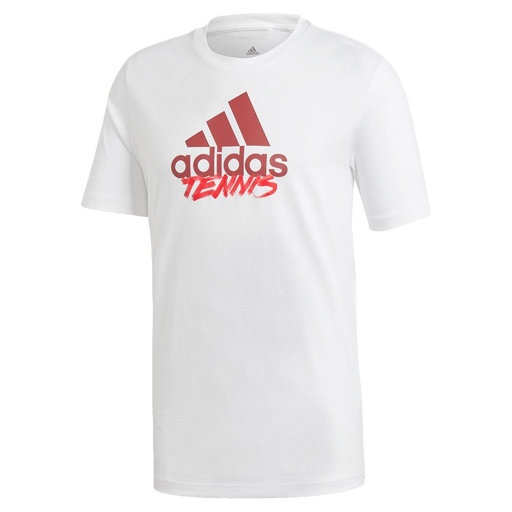 Men's Adi Short Sleeve Tennis Tee White