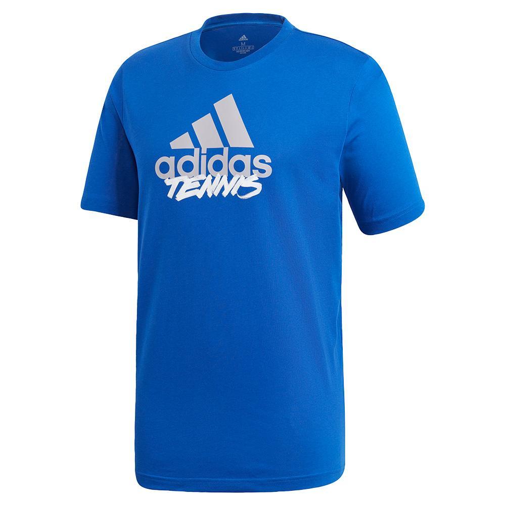 Men's Adi Short Sleeve Tennis Tee Team Royal Blue