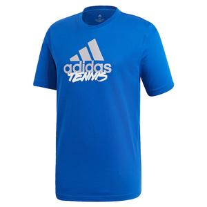 Men`s Adi Short Sleeve Tennis Tee Team Royal Blue