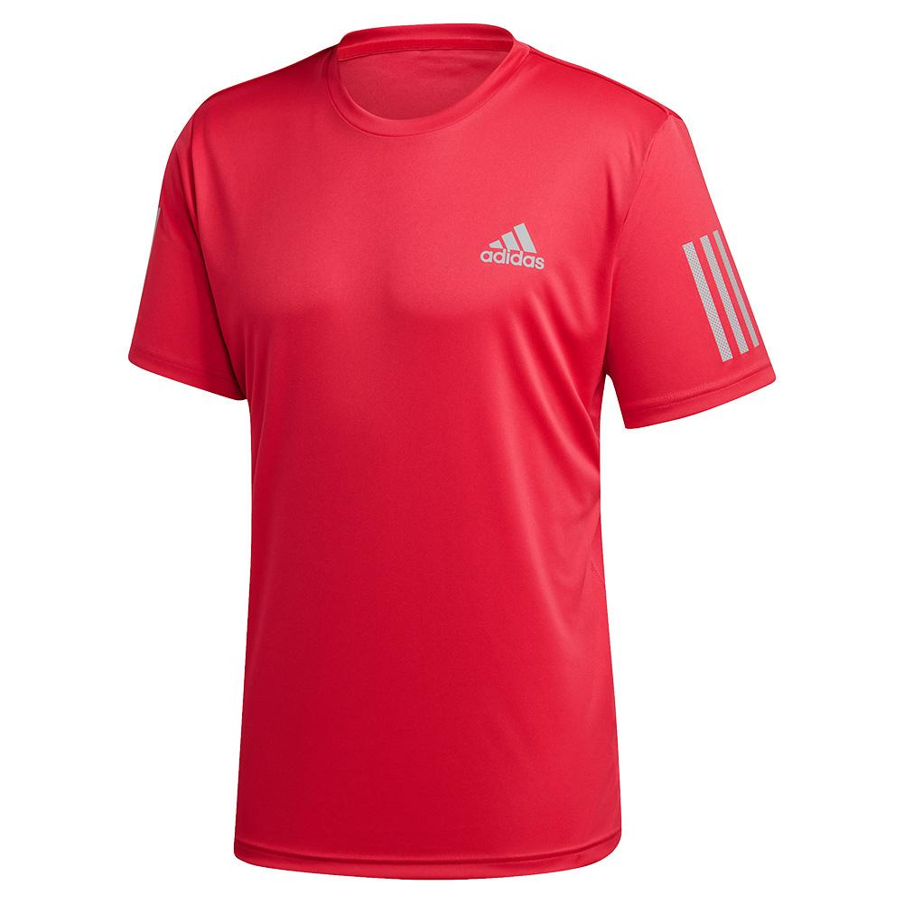Men's Club 3 Stripes Tennis Top Power Pink