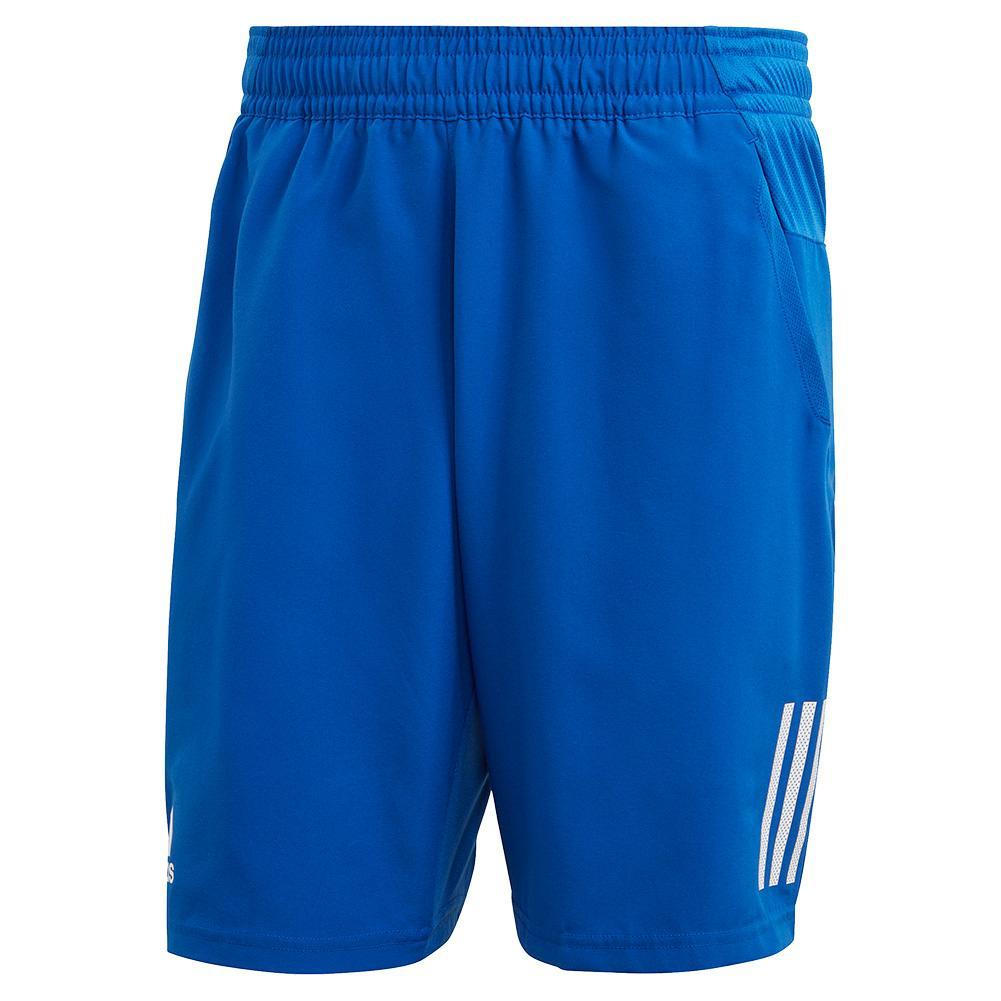 Men's Club 3 Stripes 9 Inch Tennis Short Team Royal Blue