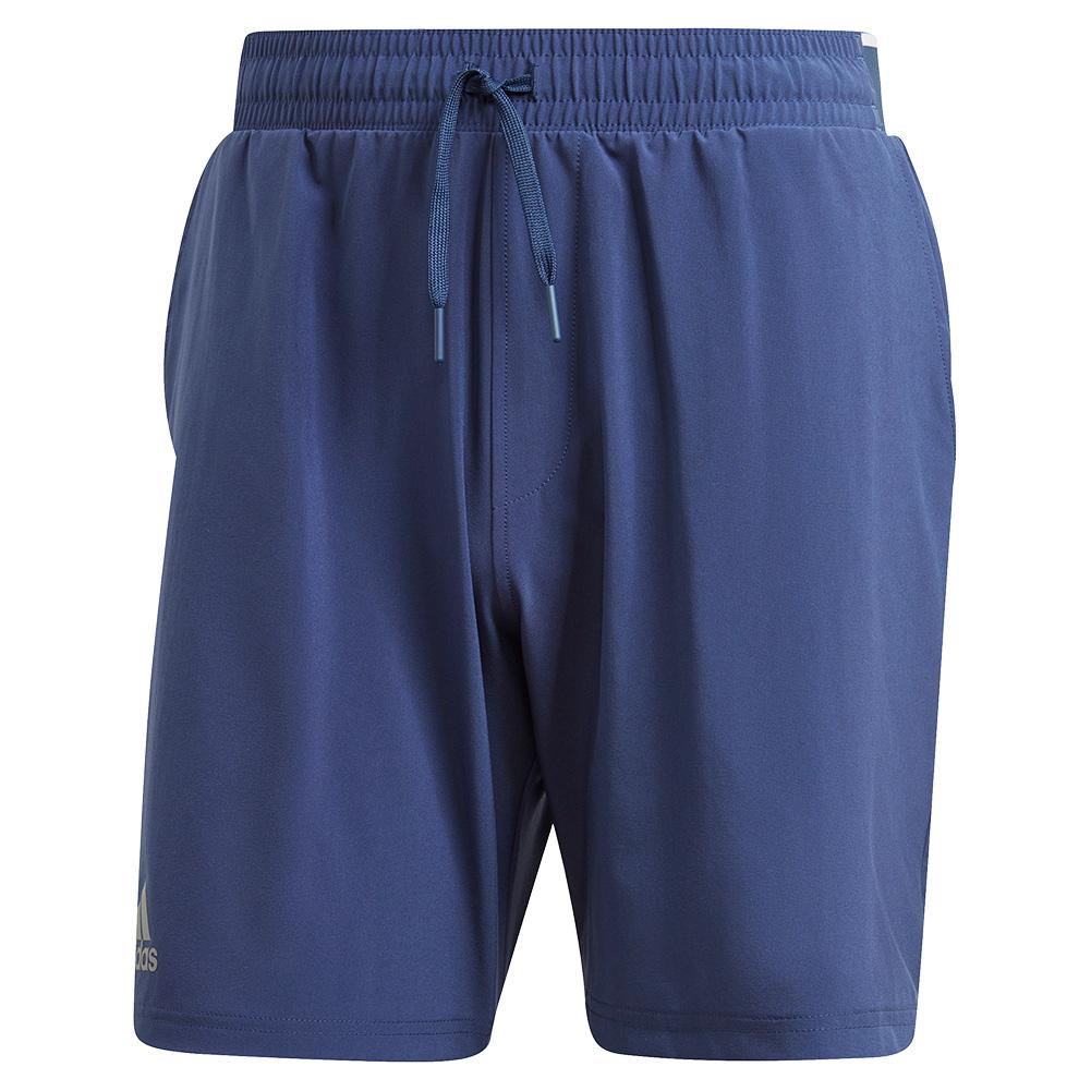 Men's Club Stretch Woven 7 Inch Tennis Short Tech Indigo