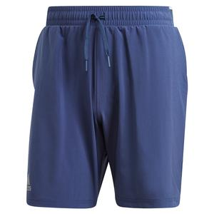Men`s Club Stretch Woven 7 Inch Tennis Short Tech Indigo