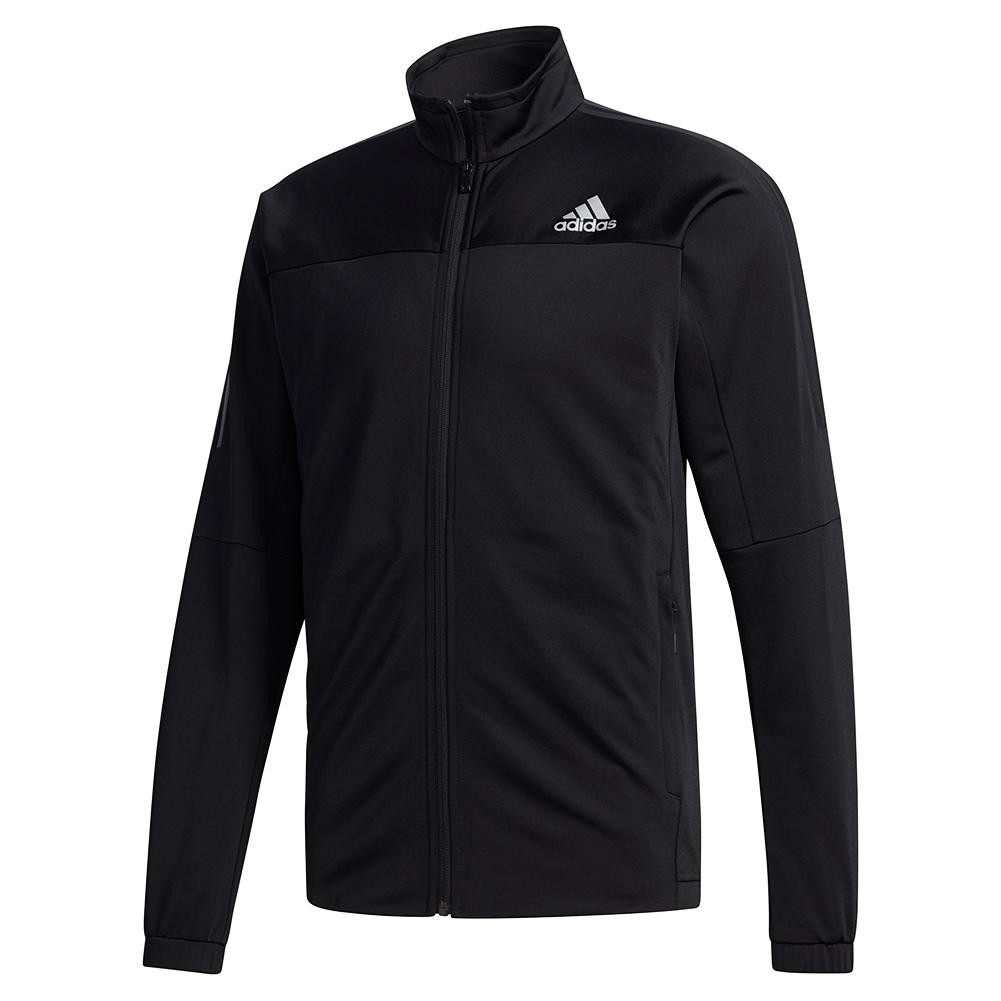 Men's 3 Stripes Knit Tennis Jacket Black