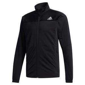 Men`s 3 Stripes Knit Tennis Jacket Black