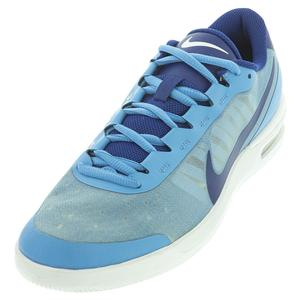 Men`s Court Air Max Vapor Wing MS Tennis Shoes Coast and Deep Royal Blue