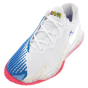 Men`s Air Zoom Vapor Cage 4 Tennis Shoes White and Photo Blue