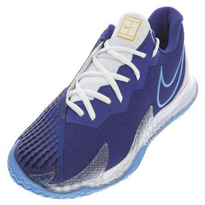 Men`s Air Zoom Vapor Cage 4 Tennis Shoes Deep Royal Blue and Coast