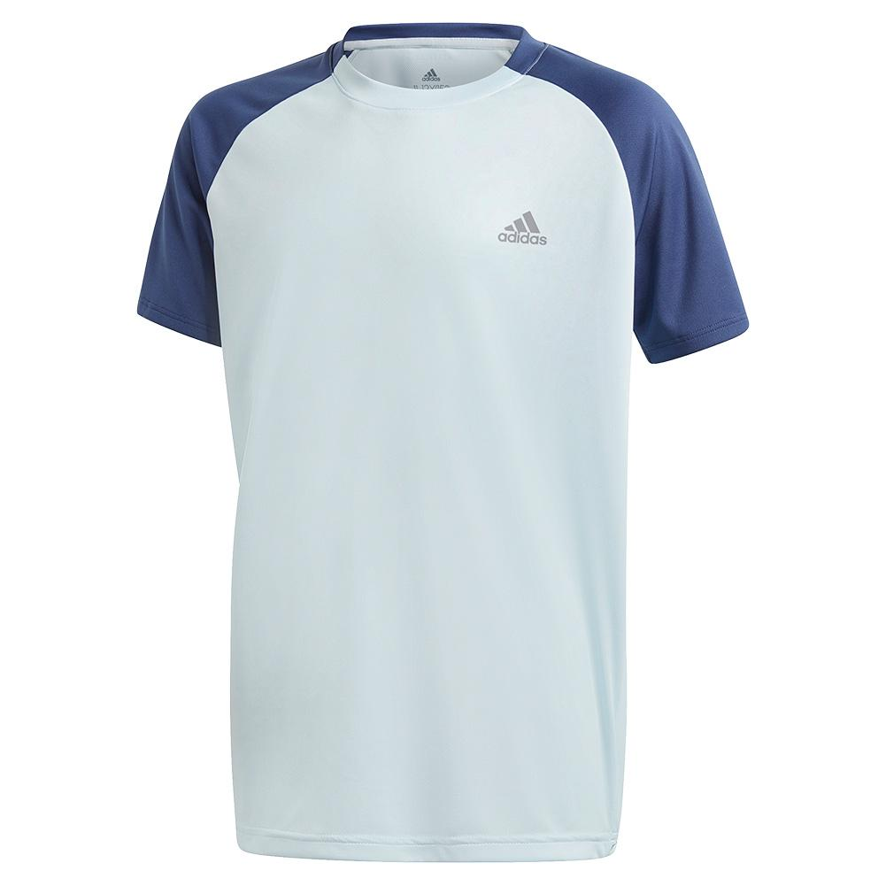 Boys ` Club Tennis Top Tech Indigo And Sky Tint