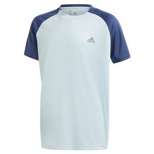 Boys` Club Tennis Top Tech Indigo and Sky Tint
