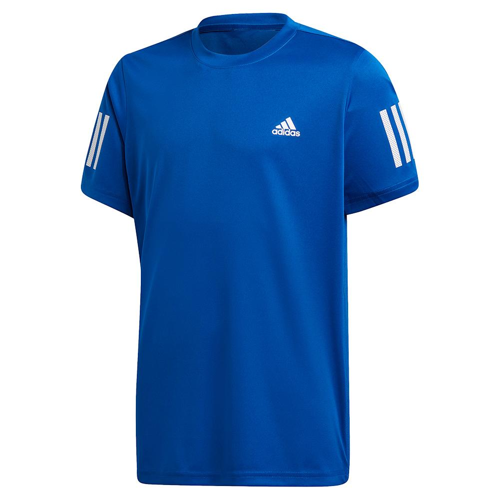 Boys ` Club 3 Stripes Tennis Top Team Royal Blue And White