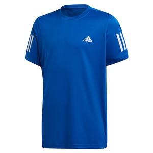 Boys` Club 3 Stripes Tennis Top Team Royal Blue and White