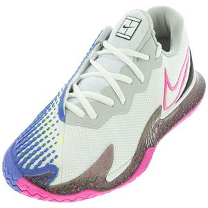 Women`s Air Zoom Vapor Cage 4 Tennis Shoes White and Laser Fuchsia