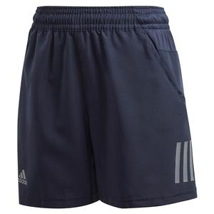 Boys` Club 3 Stripes 5 Inch Tennis Short Legend Ink