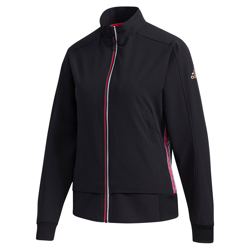 Women's Woven Tennis Jacket Black