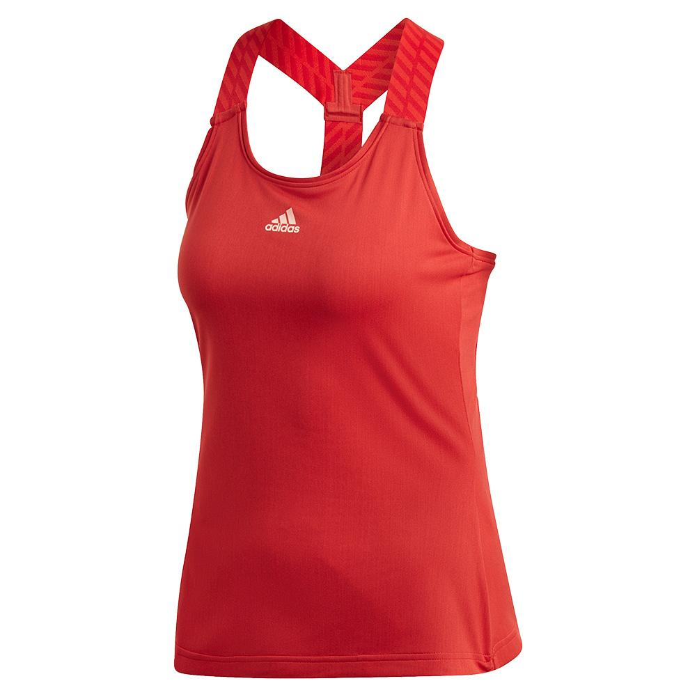 Women's Y- Back Tennis Tank Legacy Red And Haze Coral