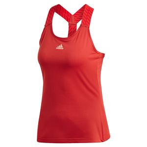 Women`s Y-Back Tennis Tank Legacy Red and Haze Coral