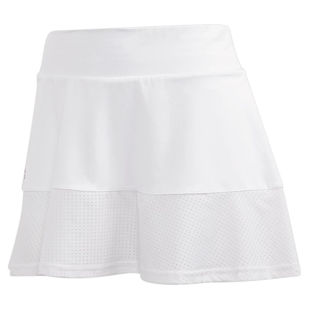 Women's Match 13 Inch Tennis Skort White And Grey Four