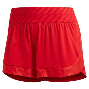 Women`s Match 2-in-1 Tennis Short Scarlet and Haze Coral