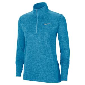 Women`s Element 1/2 Zip Running Top Laser Blue and Glacier Ice