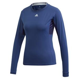 Women`s HEAT.RDY Long Sleeve Tennis Top Tech Indigo and Sky Tint