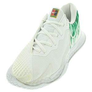 Women`s Air Zoom Vapor Cage 4 Tennis Shoes White and Clover
