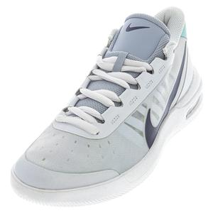 Women`s Air Max Vapor Wing MS Tennis Shoes Football Grey and Midnight Navy